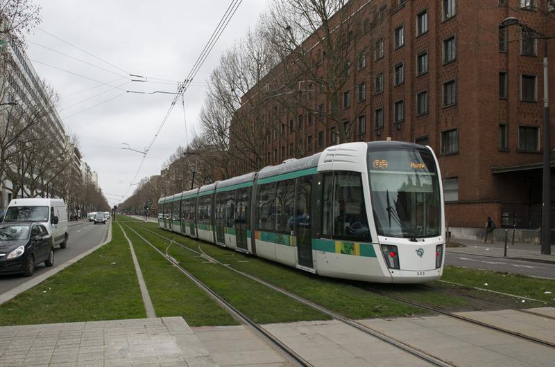 Tramway à la porte de Vanves
