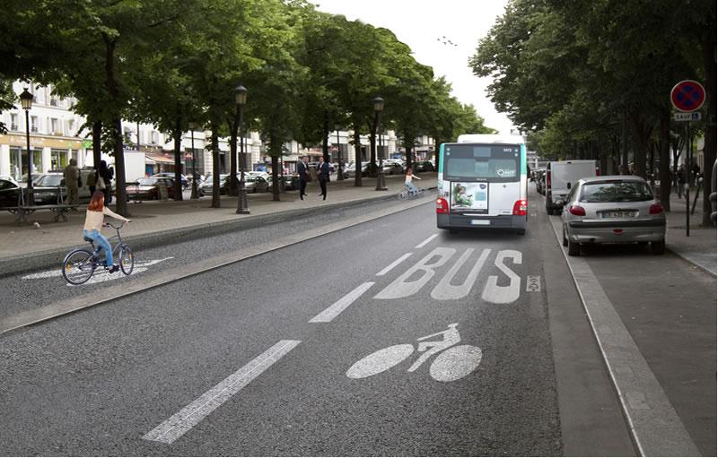 Avril 2019, avenue de Flandres, les cyclistes rouleront de part et d'autre du terre-plein central et les piétons s'y promèneront sans interruption.