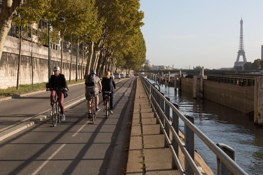 Piste cyclable de la voie Georges Pompidou