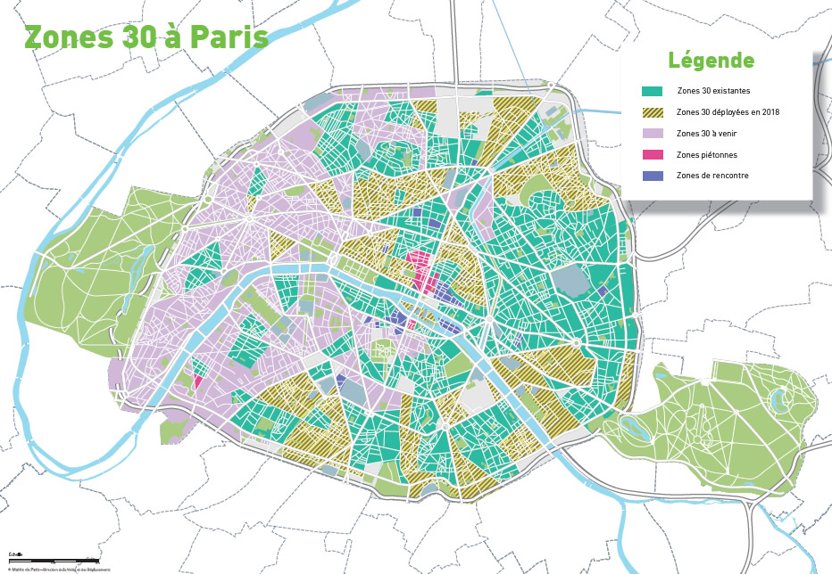 Zones 30 à Paris