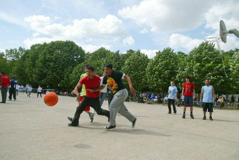 basket au jardin du Luxembourg