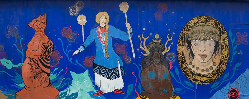 La fresque de la rue de la goutte d'or