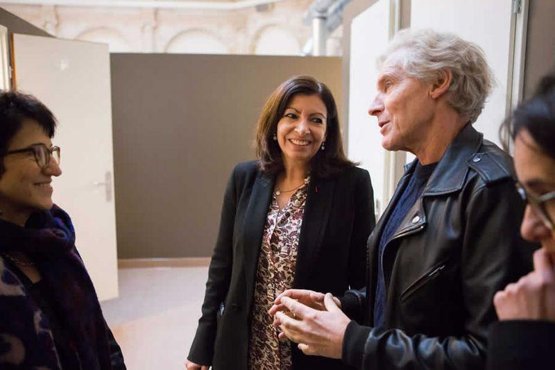 Dominique Versini, Anne Hidalgo et Eric Pliez, président du Samusocial de Paris