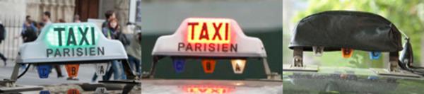 Visuels représentant les états du lumineux des taxis