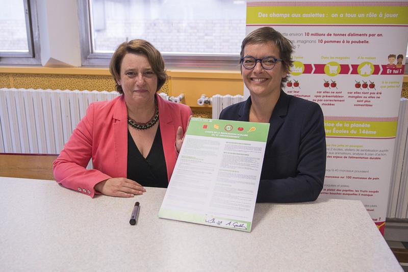 Plan anti-gaspi, signature charte par les élus