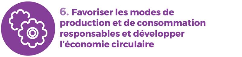rapport développement durable 6 consommation