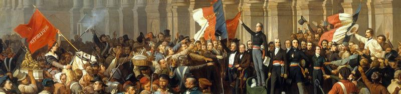 Lamartine repoussant le drapeau rouge devant l'Hôtel de Ville,  25 février 1848