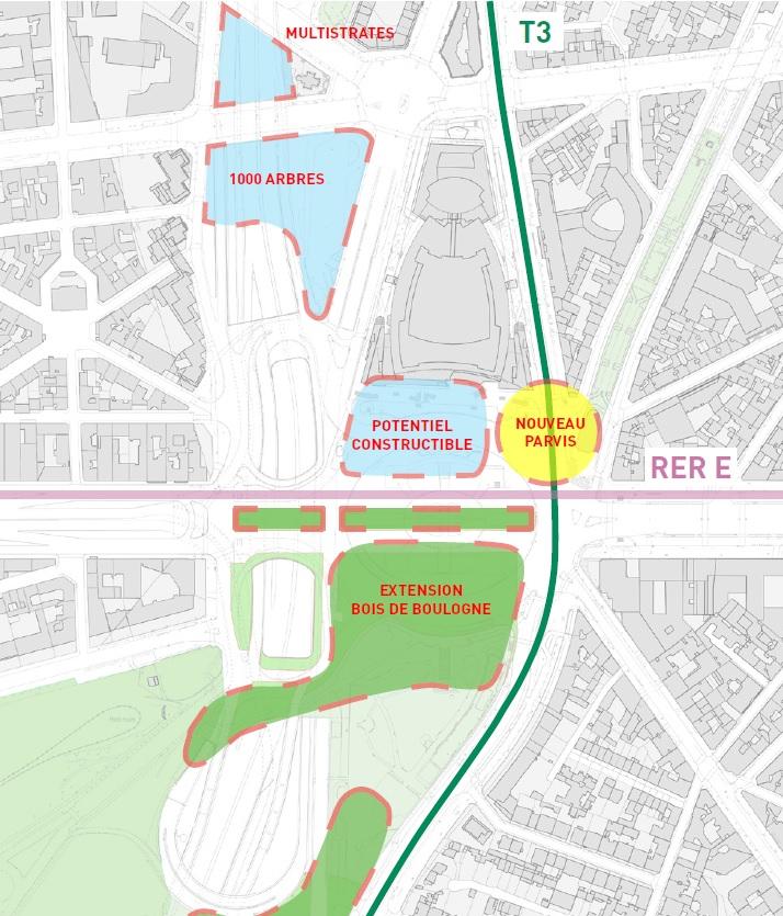 La Nouvelle Place De La Porte Maillot En Concertation Ville De Paris