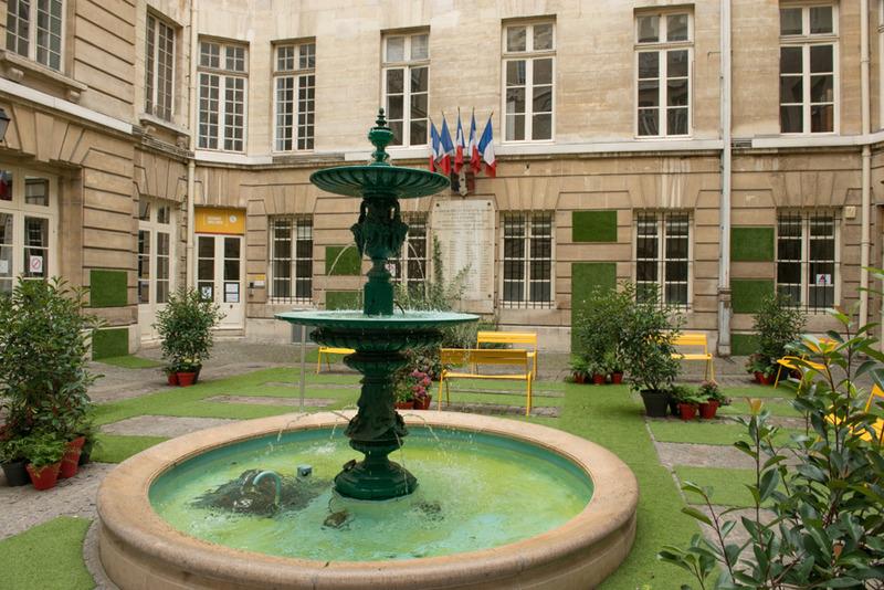 La cour du Crédit municipal de Paris