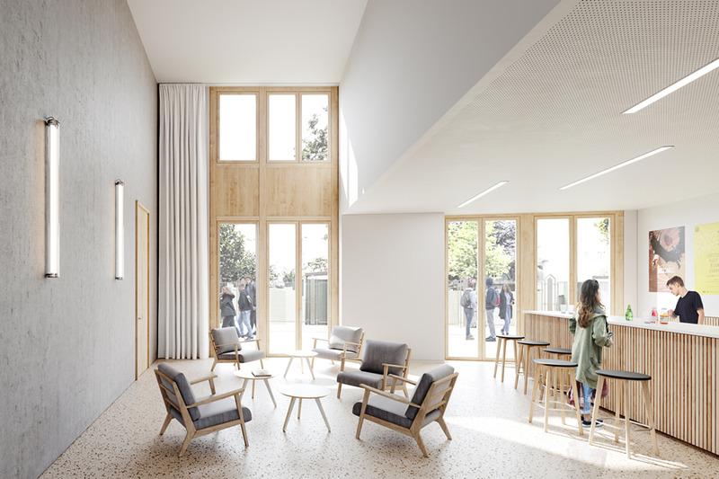 Vue intérieure de la maison des étudiants francophones de la Cité internationale