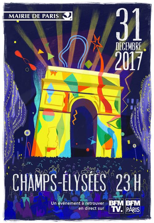 Rendez-vous sur les Champs Elysées pour le 31 décembre 2017