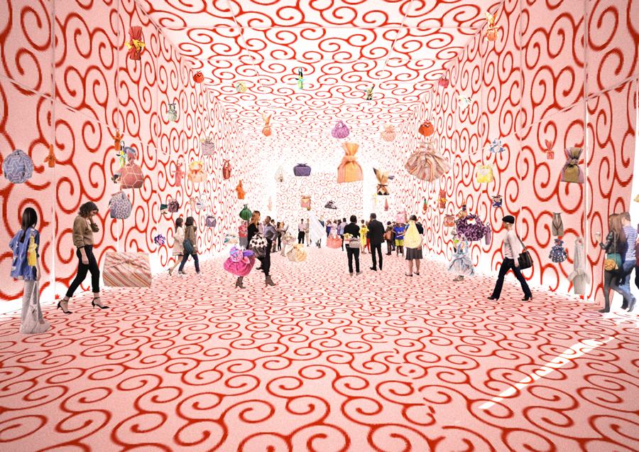 Furoshiki Paris : intérieur du pavillon