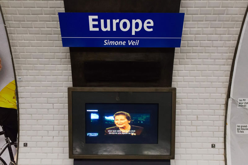 station de métro Simone Veil-Europe