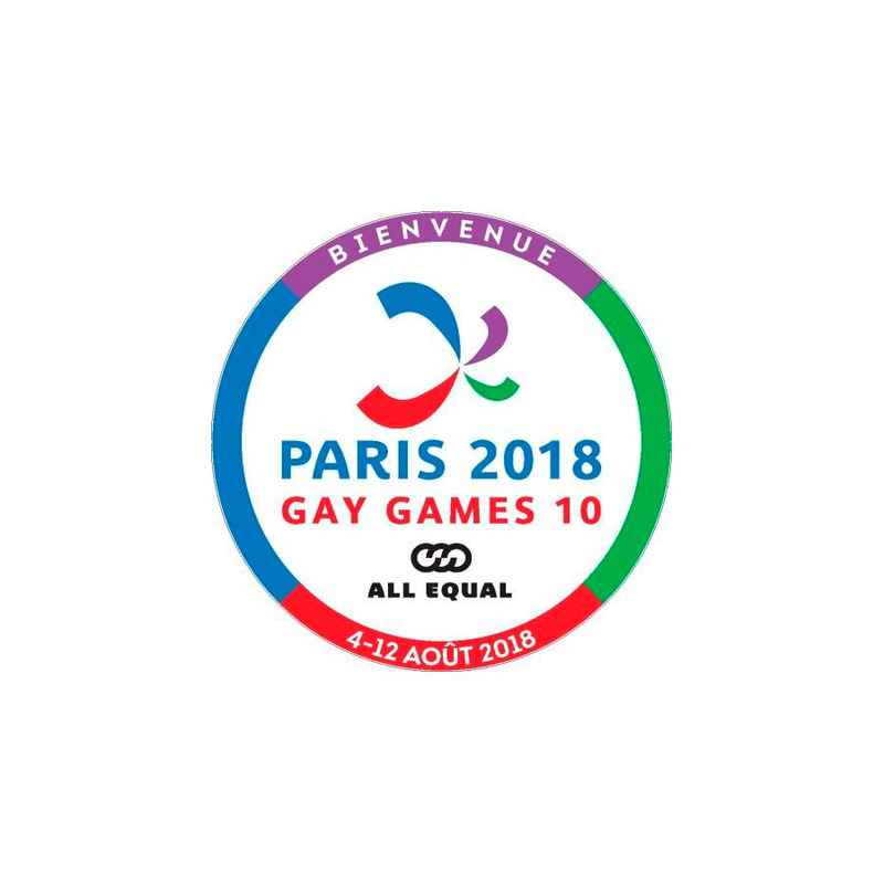 Gay games logo accueil commerçants