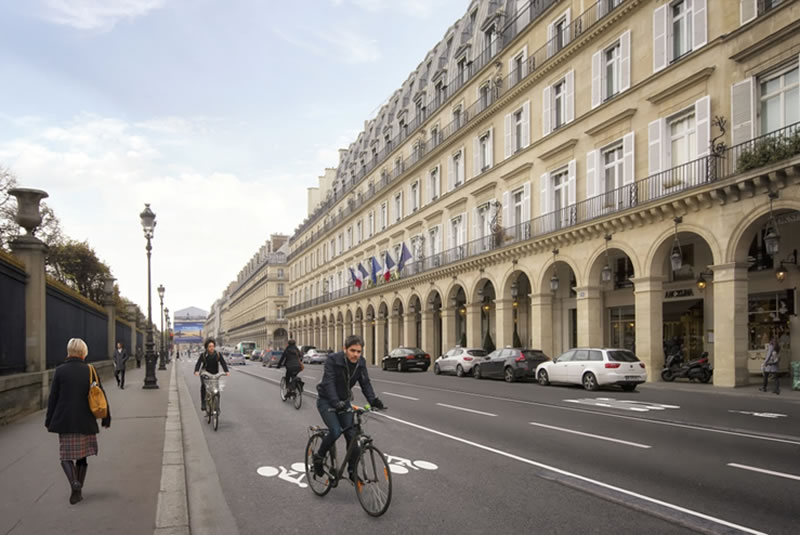 Automne 2019 : sur 3,7 km, une piste cyclable à double sens….