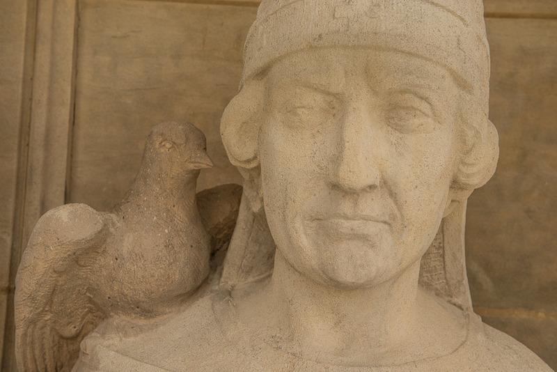 Détail de la statue de Saint Grégoire