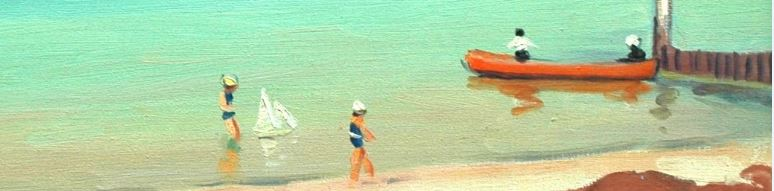 ALBERT MARQUET, Marine, plage des Sables d'Olonne, 1935, huile sur toile, 50 x 60 cm (détail)