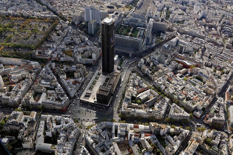 Le quartier Maine-Montparnasse vue du ciel