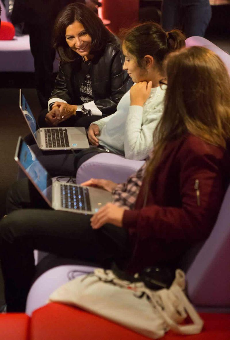Anne Hidalgo inaugure TUMO Paris au Forum des images