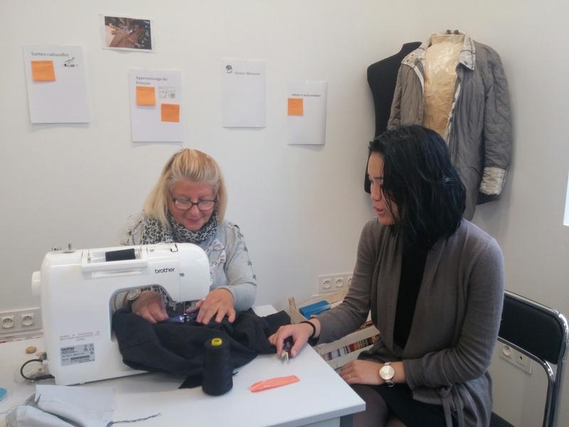 Couture à l'atelier Du fil et des mots