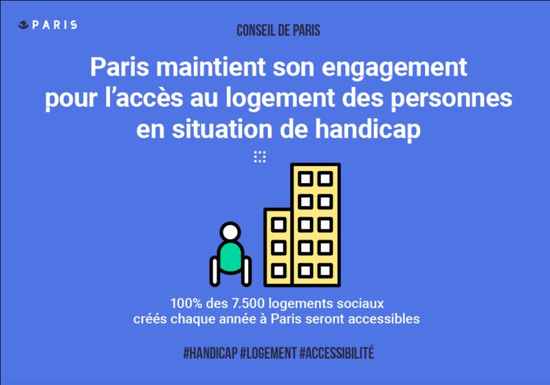 Paris maintient son engagement pour l'accès au logement des personnes en situation de handicap