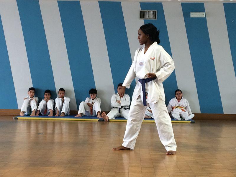 Taekwondo à l'association des Enfants de la Goutte d'or