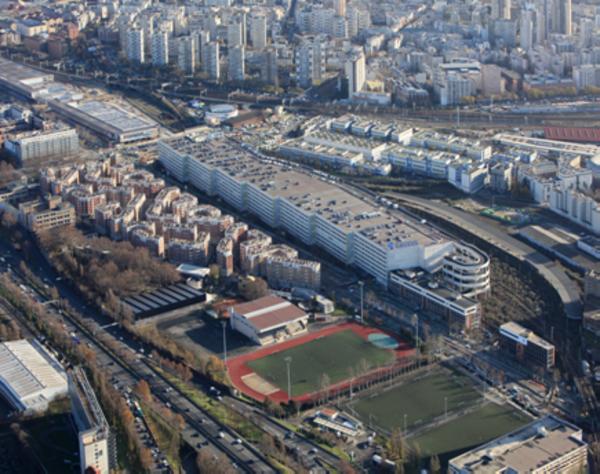 Vue aérienne du secteur Gare des Mines-Fillettes