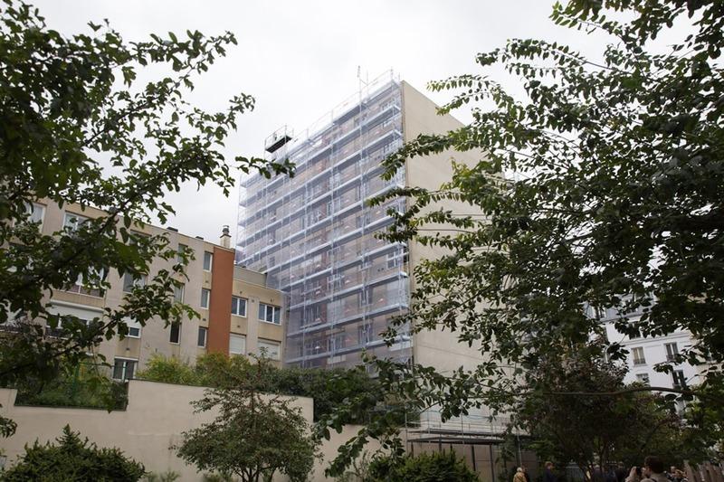 Eco-rénovons Paris : façade du 3-5-7 rue Stephenson
