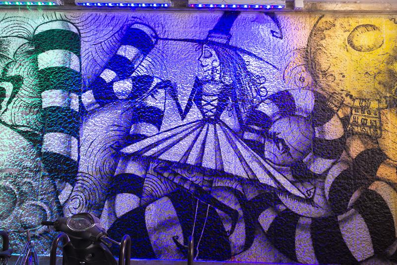 Fresque de la rue Broca