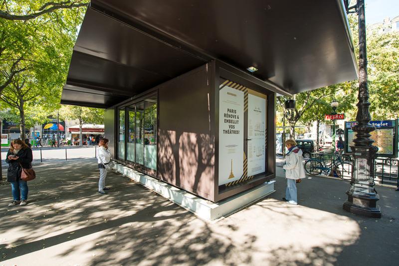 Place du Châtelet : la maison du chantier des théâtres