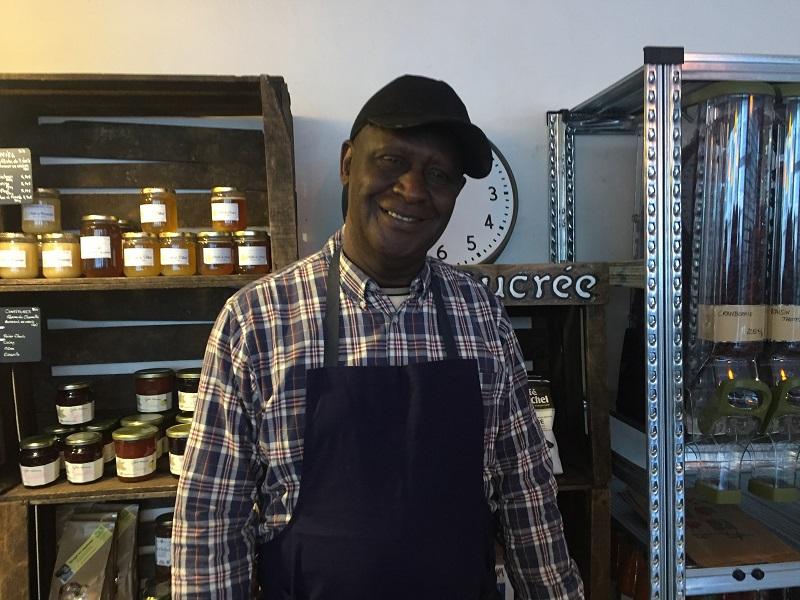 Mohamed, O' Potager de Ménil, un nouveau commerce solidaire de proximité
