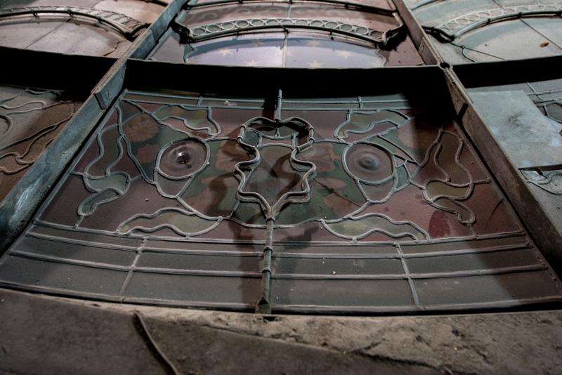 Détail de la verrière de Saint Philippe du Roule vue de dessus