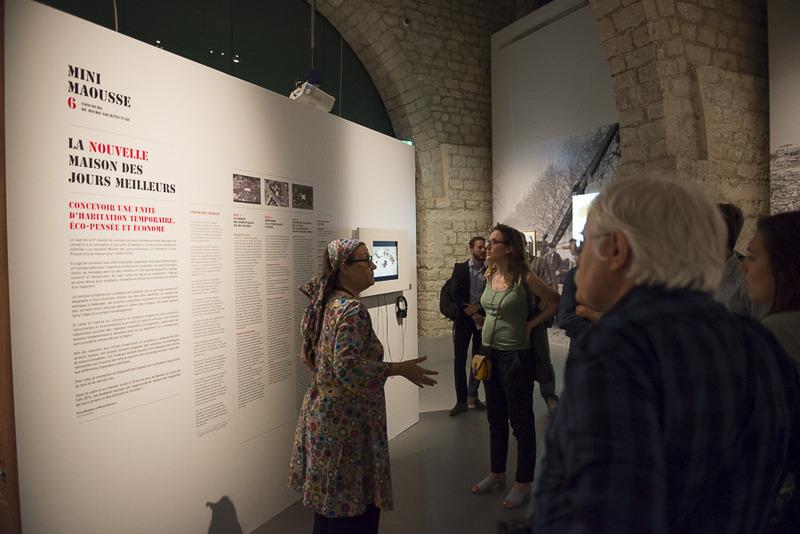 Visite de l'exposition Habiter le temporaire
