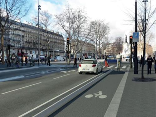Rentrée 2019 : sur 3 km, une piste cyclable de chaque côté du boulevard Voltaire