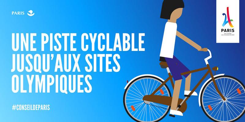 JO 2024, une piste cyclable jusqu'aux sites olympiques