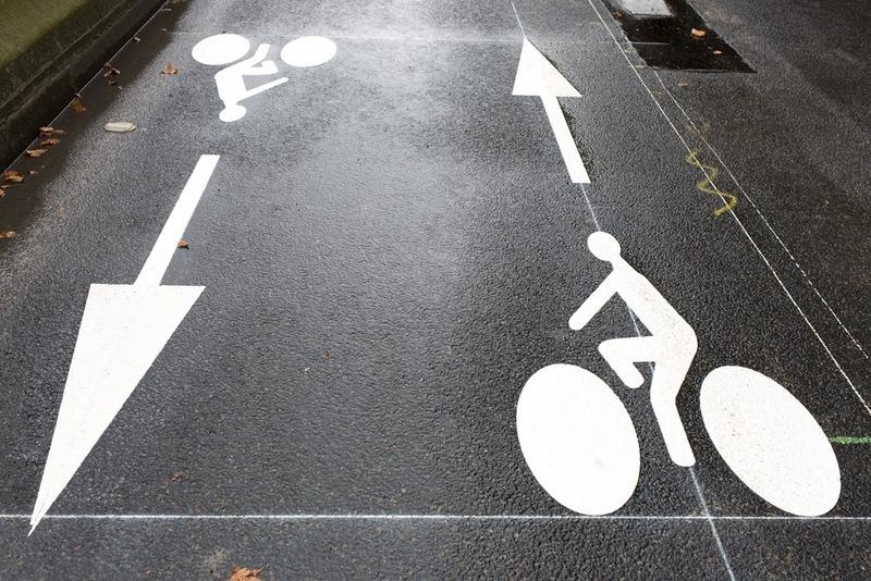 Piste cyclable pour vélo