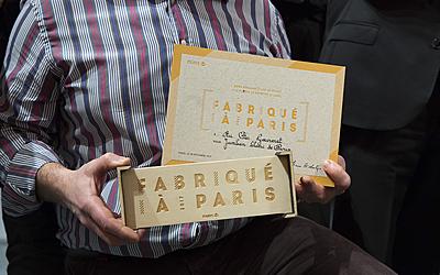 Remise du label Fabriqué à Paris