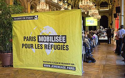 Paris mobilisée pour les réfugiés