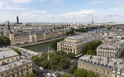vue semi-aérienne depuis la tour Saint-Jacques