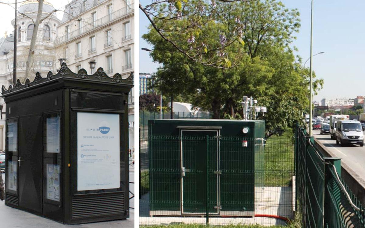 Stations de pollutions dans Paris et sur le périphérique