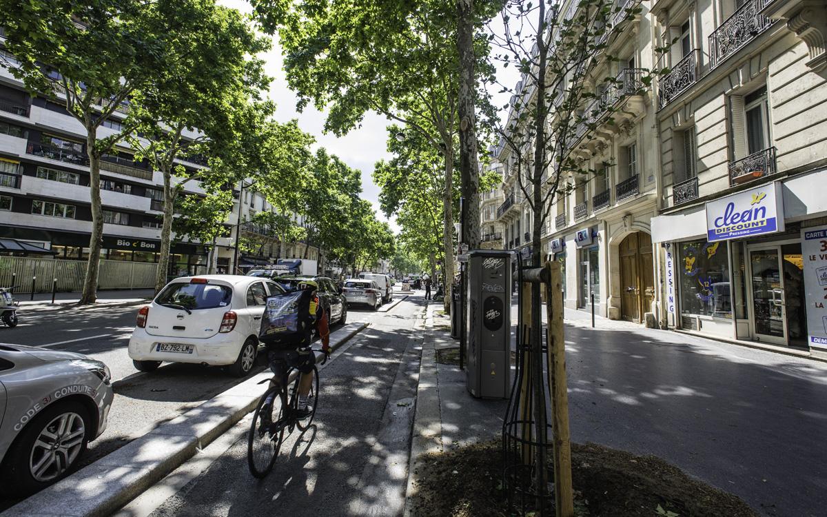 Piste cyclable Boulevard Voltaire