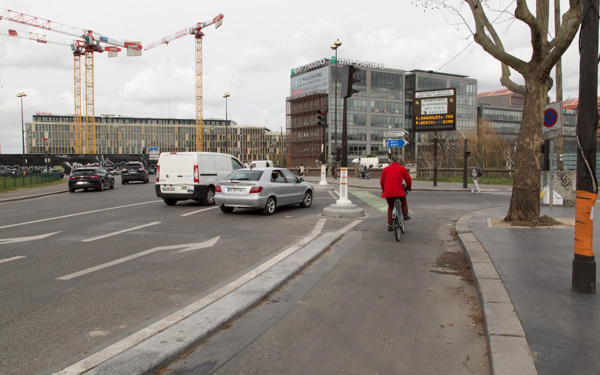 Nouvelle piste cyclable rue Aubervilliers