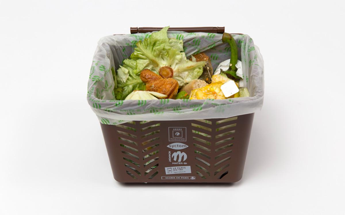 Bac de collecte sélective des déchets alimentaires