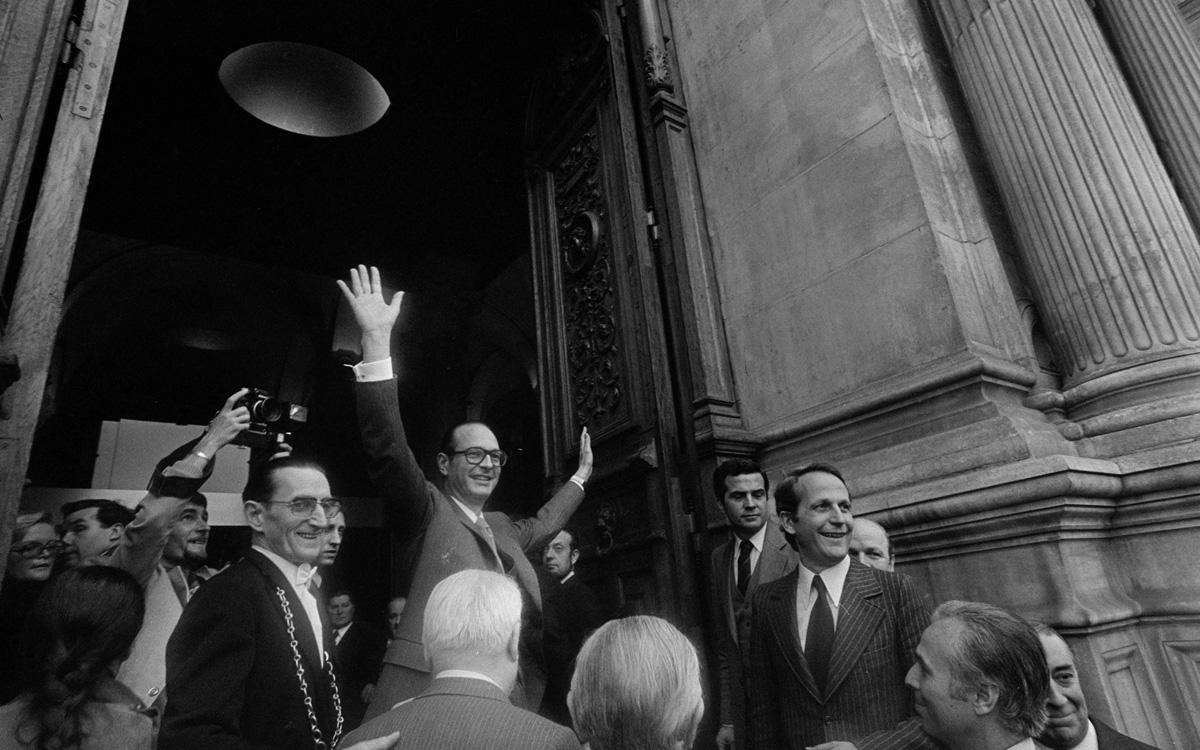 Jacques Chirac (né en 1932), élu maire de Paris, octobre 1977.