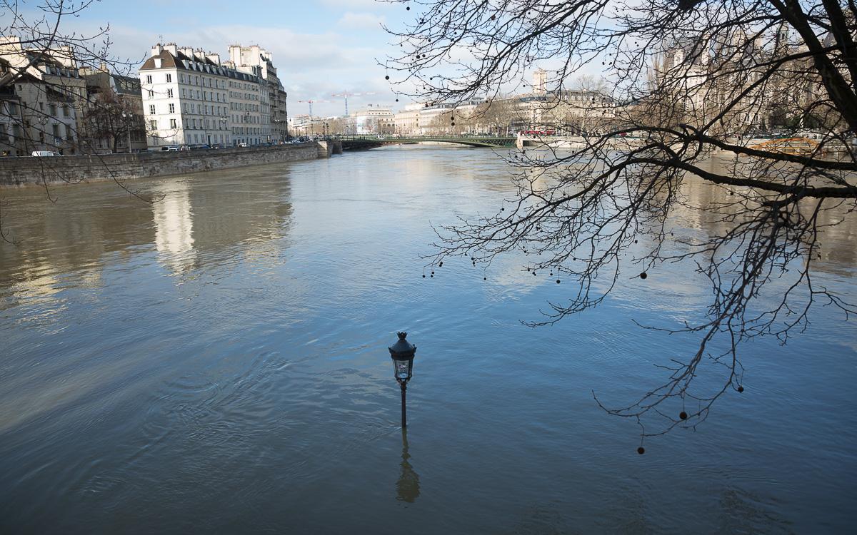 Crue  de la  Seine le 26 Janvier 2018