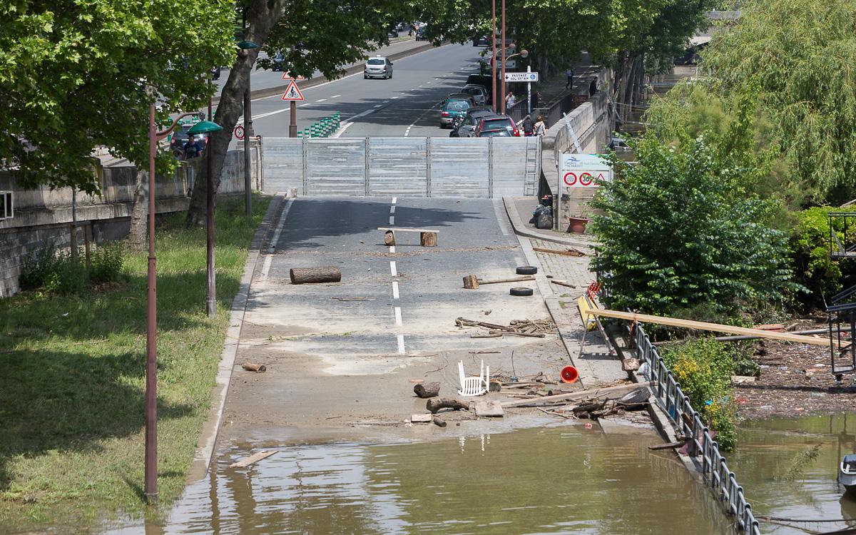 Crue de la Seine en juin 2016