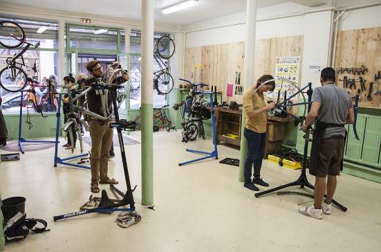 Atelier de l'école des métiers du vélo