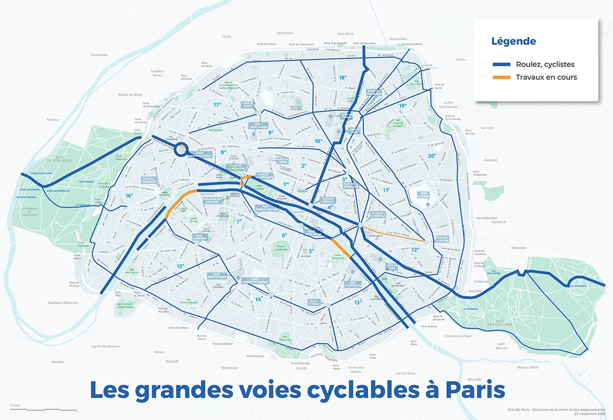 carte piste cyclable paris Paris à vélo   Ville de Paris