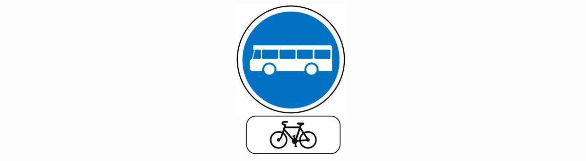 Couloir de bus autorisé