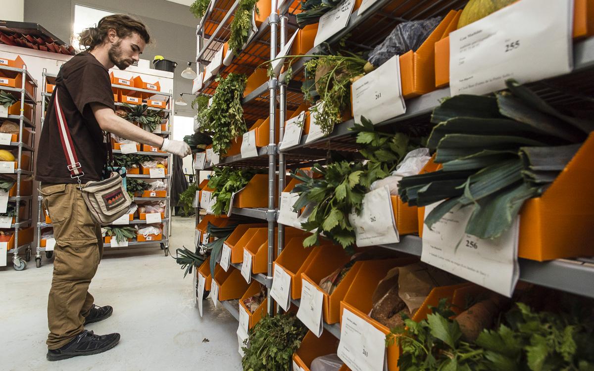Commerce équitable, halle alimentaire